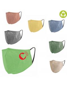 Mascherinalavabile 3 strati in cotone riciclato/tnt