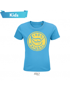 T-SHIRT KIDS 100% IN COTONE NATURALE