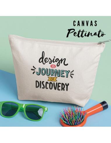 Beauty in cotone canvas pettinato con zip