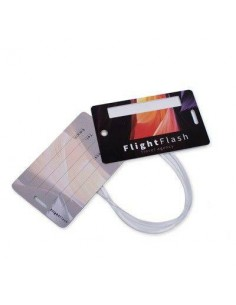 ETICHETTA BAGAGLIO PRIVACY COMPOSTA DA 2 CARD IN PVC RIGIDO