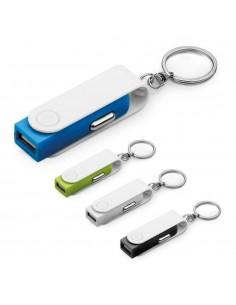 PORTACHIAVI CON ADATTATORE USB PER AUTO